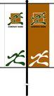 旗帜标示VI模板0123,旗帜标示VI模板,商业VI设计模板,