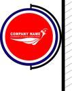 旗帜标示VI模板0134,旗帜标示VI模板,商业VI设计模板,
