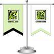 旗帜标示VI模板0137,旗帜标示VI模板,商业VI设计模板,