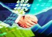 商业博弈0060,商业博弈,商业,光影 握手 数字