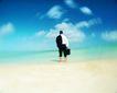 商旅生活0078,商旅生活,商业,浅海 背影 踏水