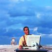 生意观念0098,生意观念,商业,沙滩 网络 上网