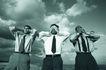 生意观念0117,生意观念,商业,三人 大喊大叫 领带