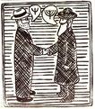 保罗考克斯作品0023,保罗考克斯作品,广告,商人 绅士 会面