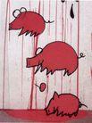 王冠咏作品0007,王冠咏作品,广告,猪 童话 红 原始 卡通画