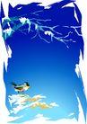 矢量背景素材0271,矢量背景素材,底纹,小鸟 树杈 破开