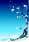 矢量背景素材0275,矢量背景素材,底纹,雪地 堆积 枯枝