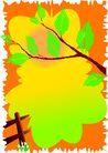 矢量背景素材0278,矢量背景素材,底纹,橘黄色 花朵 秋天