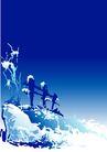 矢量背景素材0280,矢量背景素材,底纹,雪地 蓝色 草地