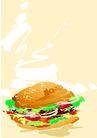 矢量背景素材0292,矢量背景素材,底纹,三文治 汉包 早餐