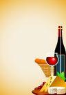 矢量背景素材0297,矢量背景素材,底纹,酒杯 食品 桌台