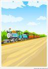 外界风景0190,外界风景,时尚卡通,火车 列车 蓝天
