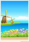 外界风景0198,外界风景,时尚卡通,风车