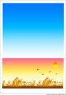 外界风景0223,外界风景,时尚卡通,蓝天 秋色 飞雁