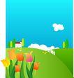 外界风景0225,外界风景,时尚卡通,花朵 郁金香 青草地