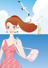 外界风景0231,外界风景,时尚卡通,小包 海鸥 船帆