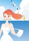 外界风景0232,外界风景,时尚卡通,女郎