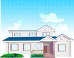 建筑风景0114,建筑风景,时尚卡通,房子 住宅 建筑风景