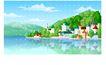 建筑风景0115,建筑风景,时尚卡通,风景秀丽 依山傍水 环境