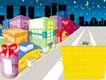 建筑风景0133,建筑风景,时尚卡通,夜景 都市 月亮 购物区 商场
