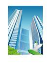 建筑风景0152,建筑风景,时尚卡通,都市建筑 指示牌
