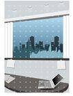 建筑风景0155,建筑风景,时尚卡通,窗口 笔记本