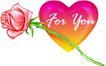 玫瑰心,恭贺庆典,时尚卡通,爱情 象征 代表