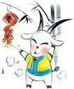 羊,恭贺庆典,时尚卡通,动物 形象 庆祝