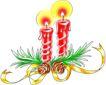 蜡烛,恭贺庆典,时尚卡通,蜡烛 烛光 绿叶