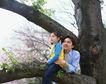 休息日家庭0059,休息日家庭,生活,大树 父女 坐在树上