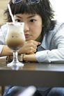 咖啡恋人0052,咖啡恋人,生活,年轻女孩 齐刘海 一杯饮料