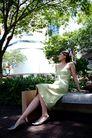 女性购物0021,女性购物,生活,贵妇 长椅 树叶