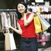 时尚购物0054,时尚购物,生活,购物后 红衣裳 牛仔裙