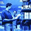 购物场景0058,购物场景,生活,蓝色调 超市购物 一边讨论