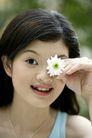 女人花0001,女人花,美容,虎牙 遮住 鲜花 眼镜 照片
