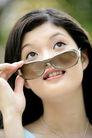 女人花0006,女人花,美容,眼镜 观看 仰望 抬头 认真