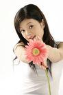 女人花0047,女人花,美容,手拿着花