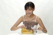 少女日记0016,少女日记,美容,水果 香蕉 叉子 盘子 餐桌