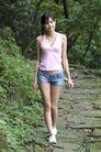 少女日记0055,少女日记,美容,山间漫步 牛仔短裤 闲情逸致