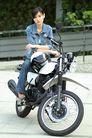 少女日记0057,少女日记,美容,个性形象 摩托车 牛仔装