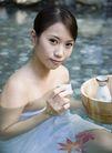 温泉休闲0016,温泉休闲,美容,品尝 枫叶 若隐若现 漂浮 抿嘴