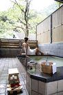 温泉休闲0052,温泉休闲,美容,泡温泉 女子背影 白浴巾