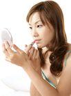 美颜化妆0042,美颜化妆,美容,小镜子 涂口红