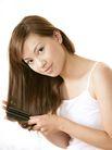 美颜化妆0053,美颜化妆,美容,温柔女性 头发垂下 梳头
