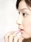 美颜化妆0073,美颜化妆,美容,涂抹 粉红 口红