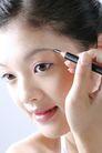 面部美容0012,面部美容,美容,媚眼 彩妆 侧脸 头发 眉笔