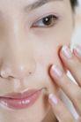 面部美容0035,面部美容,美容,黑眼睛 淡妆 表情