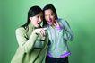 魅力手势0051,魅力手势,美容,青春时代 两个女子 用手指