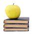 书籍0056,书籍,静物,三本书 整齐叠放 一个苹果