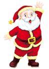 欢乐圣诞插画0010,欢乐圣诞插画,静物,打招呼 再见 睁大 手势 道别